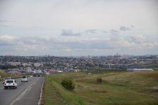 Blick auf Krasnojarsk und ...