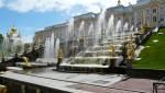 Wasserspiele in Peterhof in Russland