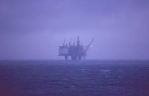 Eine Ölplattform vor Norwegen