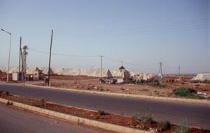 Baumwollsammelplatz am Rand von Hama