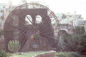Die riesige Noria in Hama-Mitte