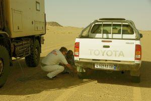 Richtiger Luftdruck im Sand gewährt...