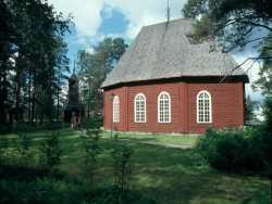 Die Gamla-Kyrka in Jokkmok