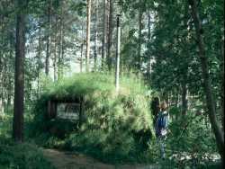 Eine Samenhütte