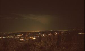 Abendlicher fantastischer Ausblick Richtung Damaskus vom Cherubin