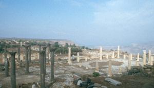 Gut erhaltende Granit- und Marmor-Säulen