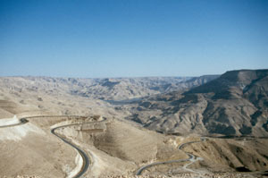Atemberaubende Aussicht vor der Abfahrt ins Wadi Mujib