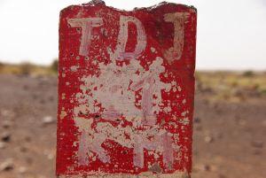 Tichit - Hinweisschild Richtung Tidjikja