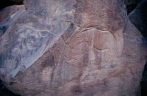 Wadi Mathendous Libyen