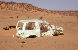 Rallye Dakar Überbleibsel