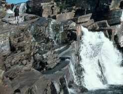 Wasserfall im Schieferabbaugebiet