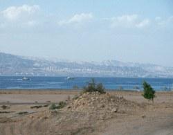 Das Rote Meer mit Blick auf Ejlat
