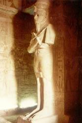 Im großen Tempel von Abu Simbel