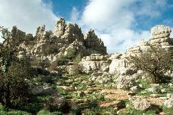 Im Naturpark El Torcal nördlich von Malaga