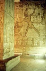 Wandmalereien in Abu-Simbel
