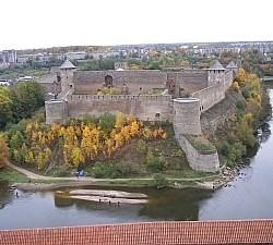 Die russische Festung Ivangorod