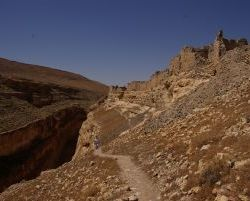 Der Weg oberhalb der Schlucht...