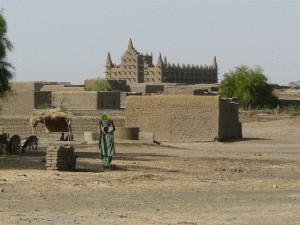 Moschee im sudanesischem Lehmbaustil