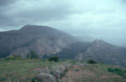 Die Rest von Bobastro, einer bedeutenden maurischen Festung