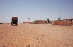 unerwartete Tankstelle nahe Bir Allagh
