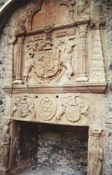Kamin im Huntly Castle