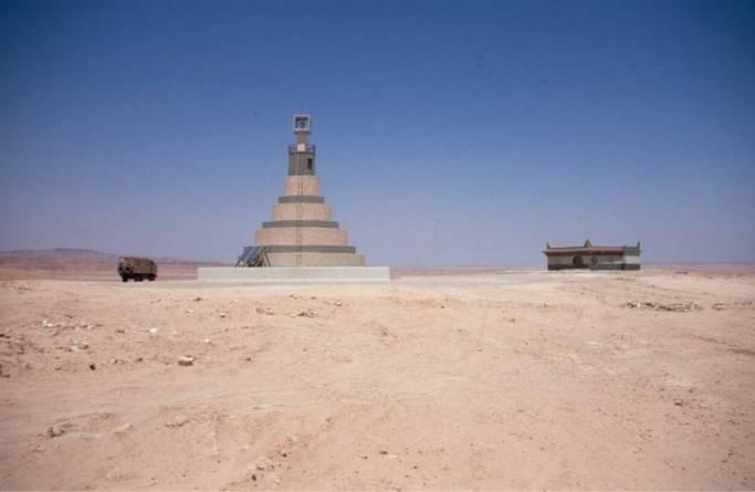 Ein Leuchtturm zwischen Gariyat nach Mizda