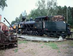 Die Lok in Porvoo wird mit Holz beheizt