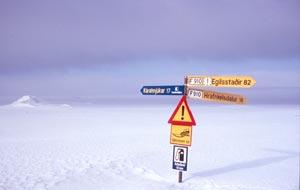 Abzweigung von der 910 in Richtung Snaesfjell