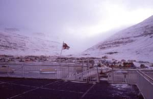 Auf der Norröna im Hafen von Sedisfördur