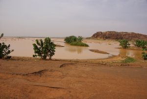 Überschwemmungsgebiet bei Tintane