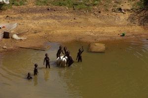 Waschtag für Kind und Vieh