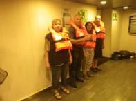 Rettungsübung an Bord