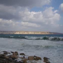 Stürmische See auf Kreta