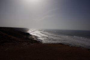 Die Steilküste im Lichtspiel der Sonne....