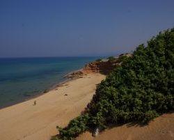 Der Sandstrand von Scivu...
