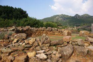 Die Reste eines punisch-römischen Tempels...