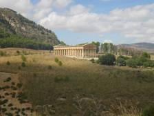 Der griechische Tempel in Segesta