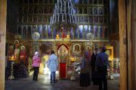 Die Ikonostase in der Kasaner Kathedrale