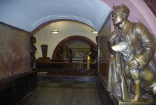 Bronzefiguren, den Helden der Oktoberrevolution.