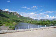 ...zur einzigen Brücke über den Onon im Umkreis von vielen 100 Kilometern.