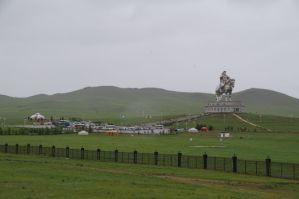 50 km östlich von Ulan Bator, das Monument von Dschingis Khaan...