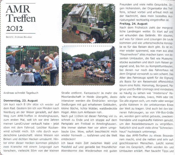 Allradler Bericht Seite 1 von 2012