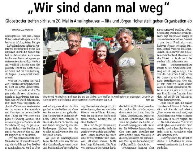 Landeszeitung Lueneburg 2016