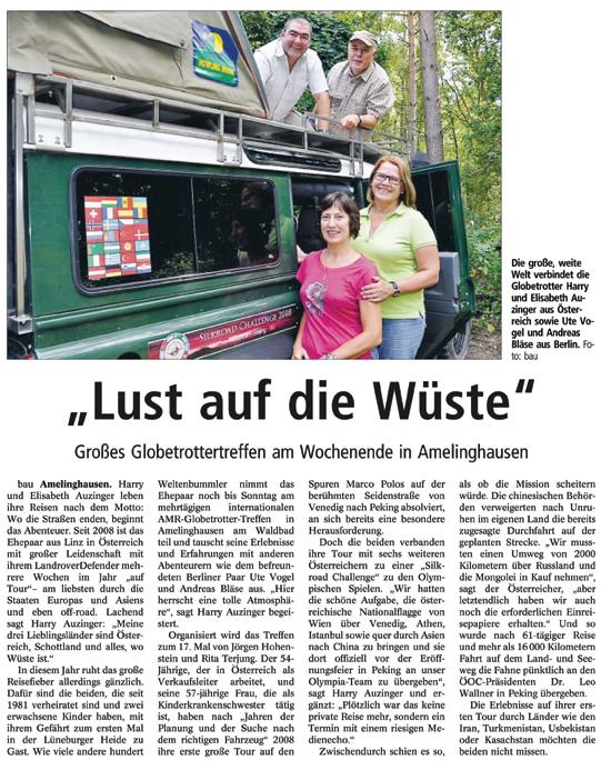 Landeszeitung Lueneburg 2013