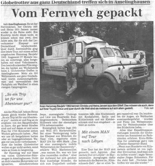 Landeszeitung Lueneburg 1998