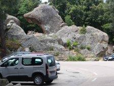 Die Felsformationen in der Calanche lassen...