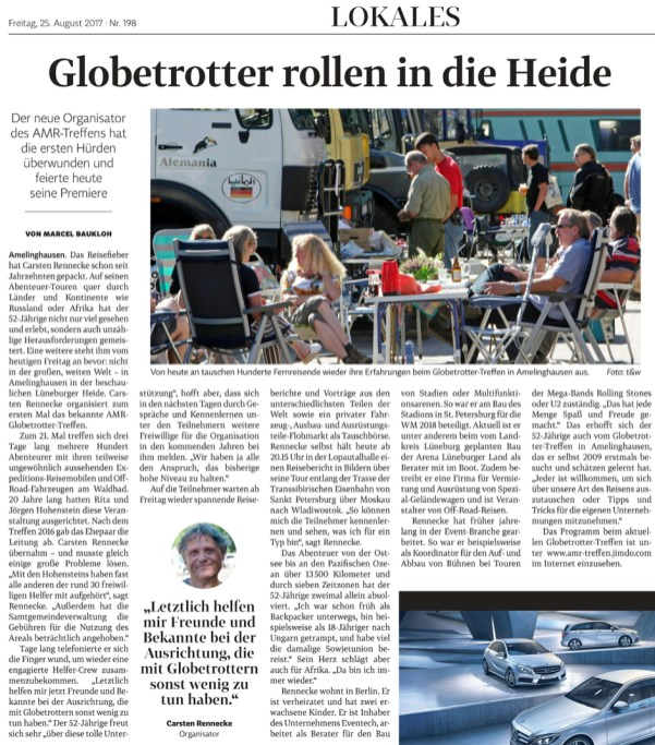 21. AMR-Treffen Bericht der Landeszeitung Lüneburg