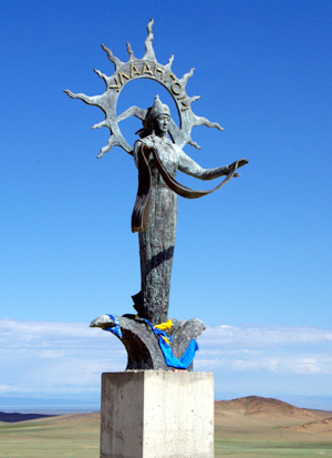 Statue vor Ulaangom