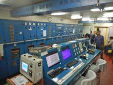 Besichtigung des Maschinenraums mit Steuerzentrale, ...