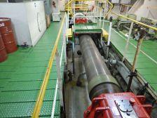 ...und der 50 cm Durchmesser Antriebswelle für die Schiffsschraube.